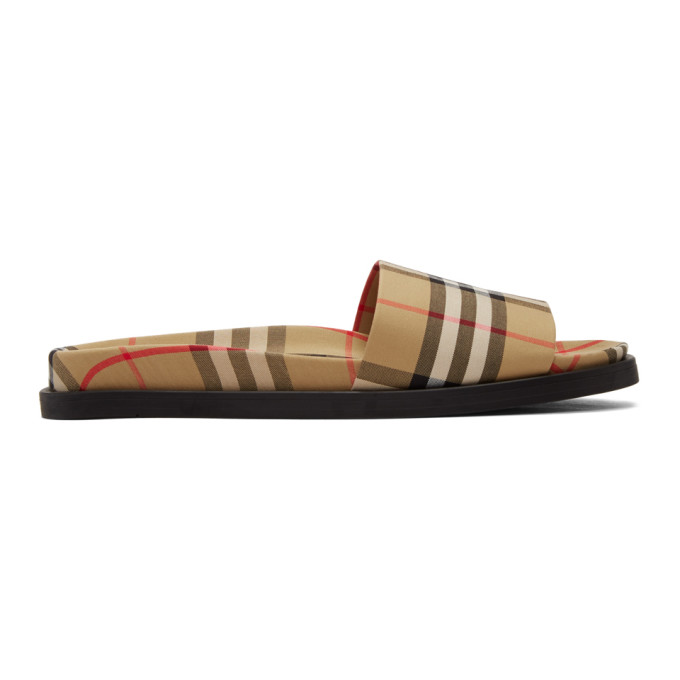 c73d74c598d79b BURBERRY. Men S Ashmore Check Slide Sandal