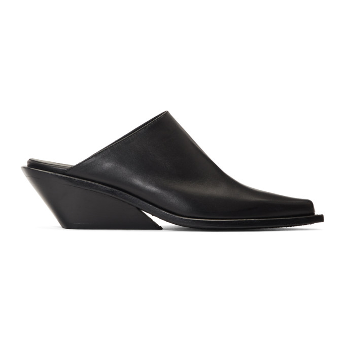 Ann Demeulemeester SSENSE Exclusive Black Wedge Mules