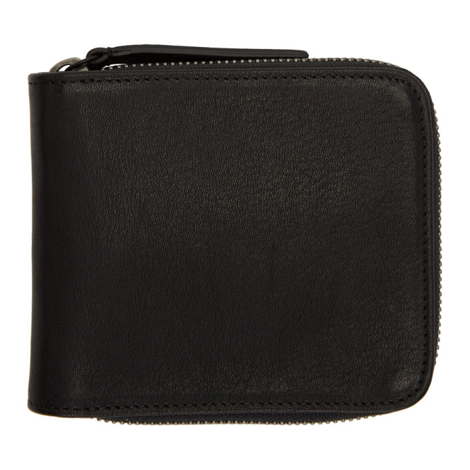 Image of Ann Demeulemeester Black Cimone Bifold Wallet