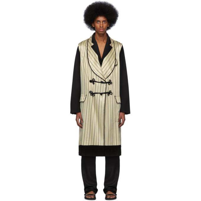 Image of Ann Demeulemeester Beige & Black Levon Waistcoat