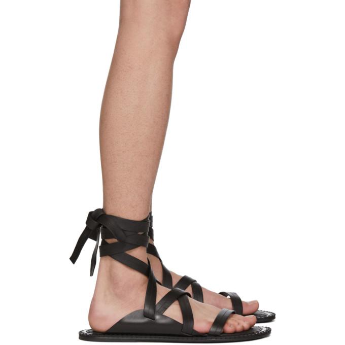 Ann Demeulemeester Black Guard Sandals