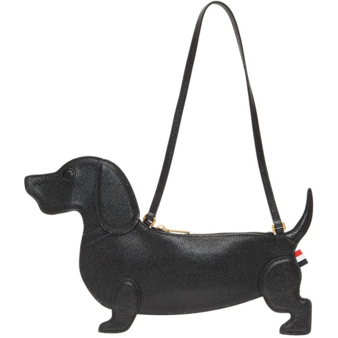 Thom Browne Black Hector Icon Flat Clutch Bag