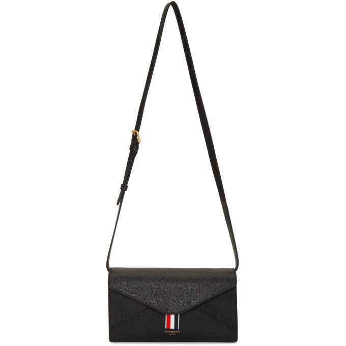 Thom Browne Black Envelope Crossbody Bag