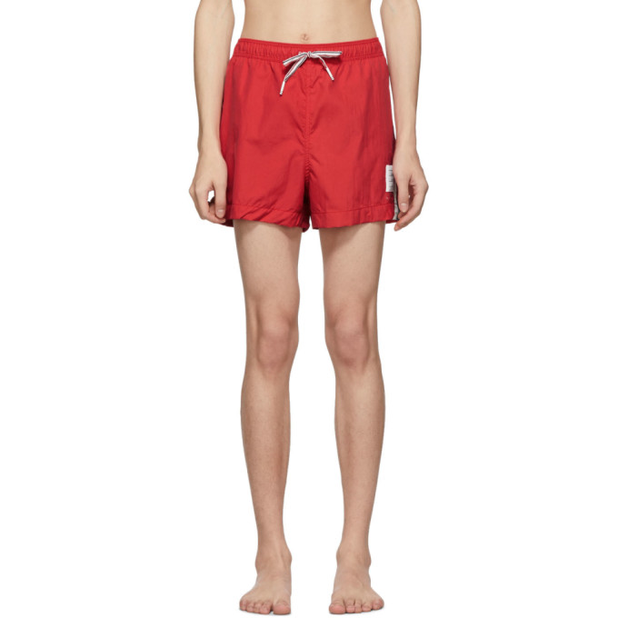Thom Browne Maillot de bain rouge Drawcord Waist