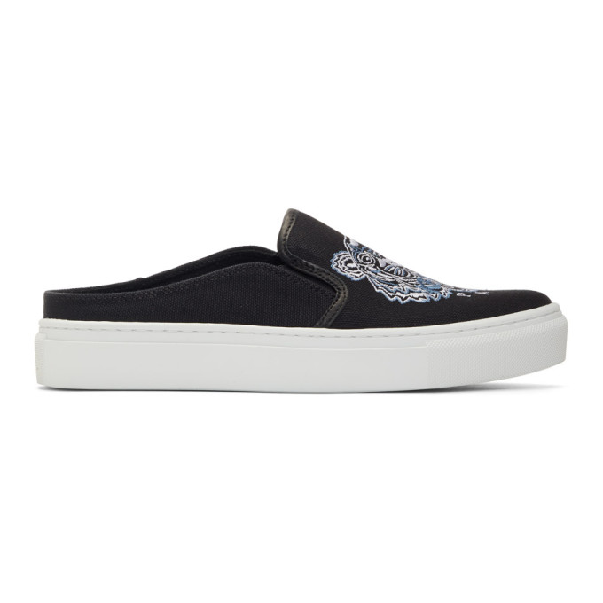 Kenzo Black K-Skate Mule Slip-On Sneakers