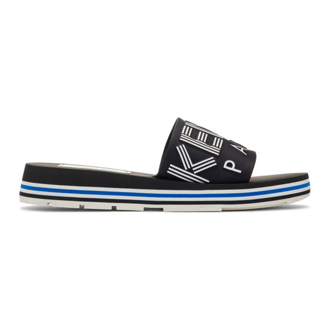 Kenzo Black Papaya Flat Sandals