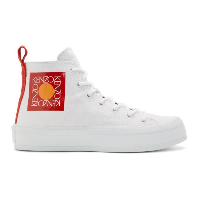 Kenzo White K-Street Sneakers
