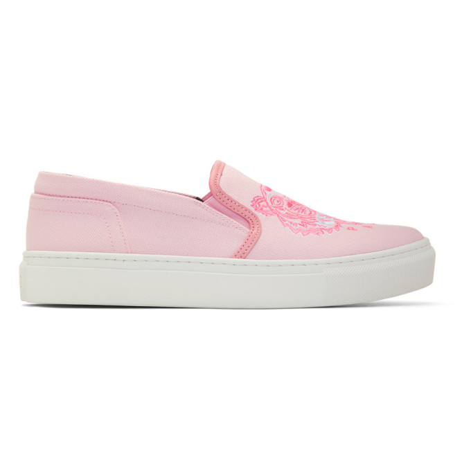 Kenzo Pink Tiger K-Skate Slip-On Sneakers