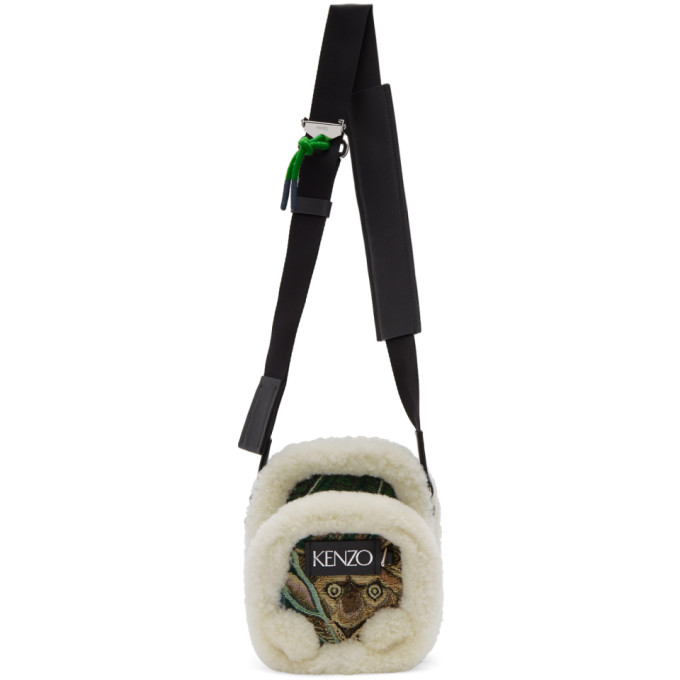 Kenzo Green Jacquard Small Crossbody Bag