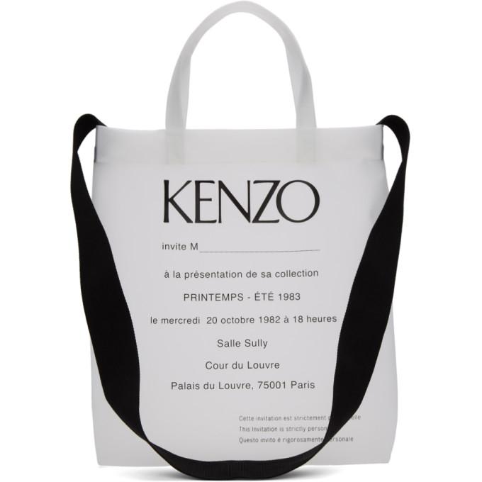 Kenzo KENZO TRANSPARENT INVITATION TOTE