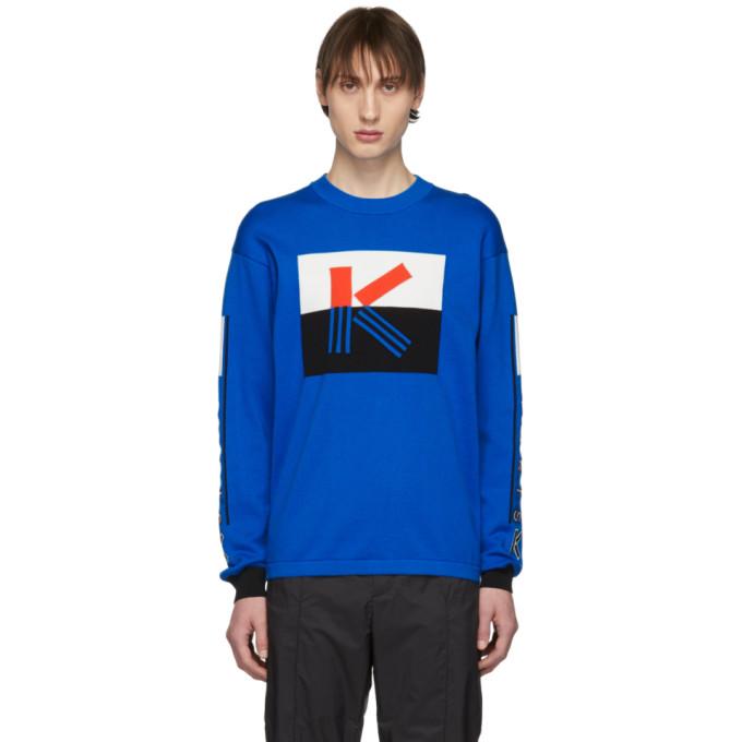 Kenzo ブルー カラーブロック K セーター