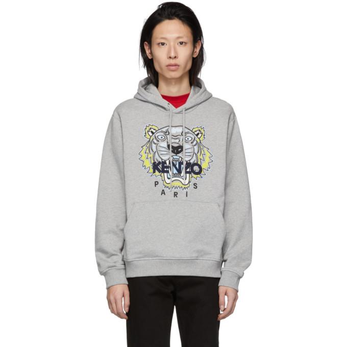 a0858f9e Kenzo Grey Tiger Hoodie