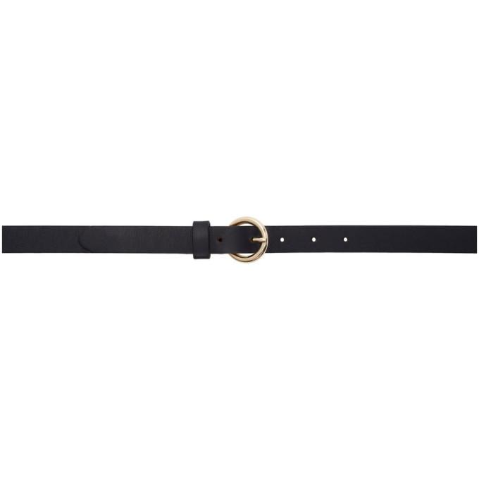 MAISON KITSUNE | Maison Kitsune Navy Thin Classic Belt | Goxip