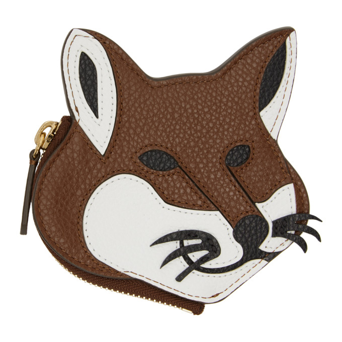 Maison Kitsuné Accessories MAISON KITSUNE MULTICOLOR FOX HEAD COIN PURSE
