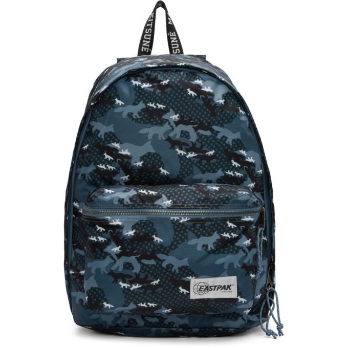 Maison Kitsuné Blue Eastpak Edition Camouflage Out Of Office Backpack