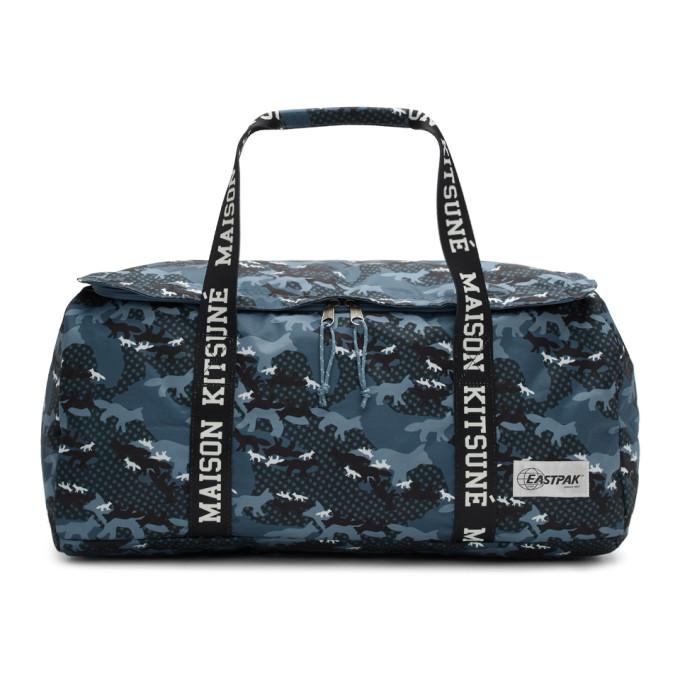 Maison Kitsuné Blue Eastpak Edition Camouflage Perce Duffle Bag