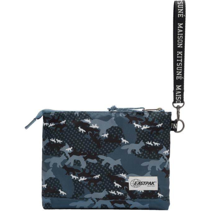 Maison Kitsuné Blue Eastpak Edition Camouflage Isabella Pouch
