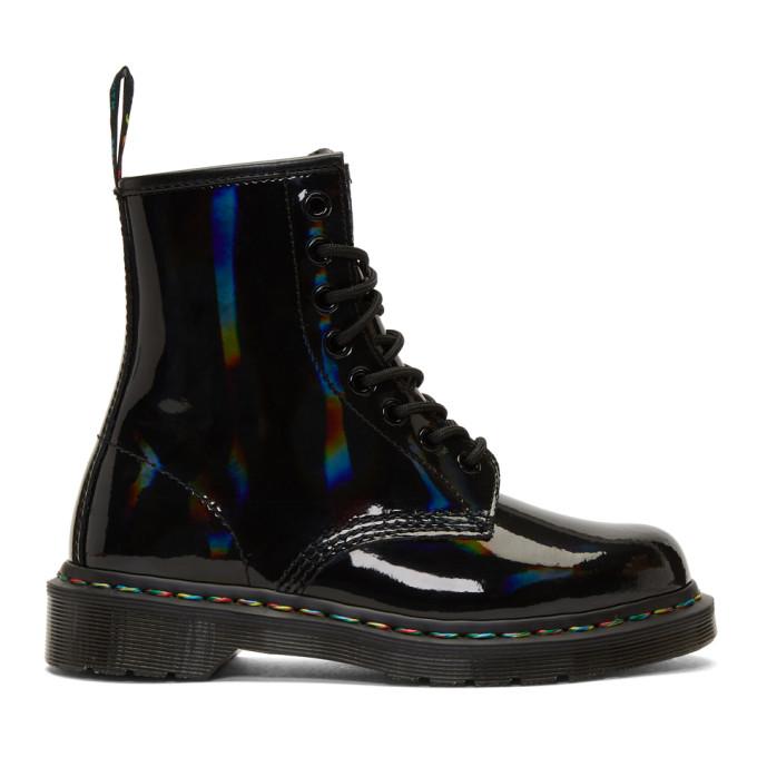 DR. MARTENS | Dr. Martens Black Rainbow 1460 Boots | Goxip
