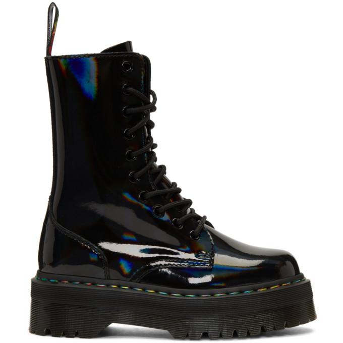 DR. MARTENS | Dr. Martens Black Rainbow Jadon Platform Boots | Goxip