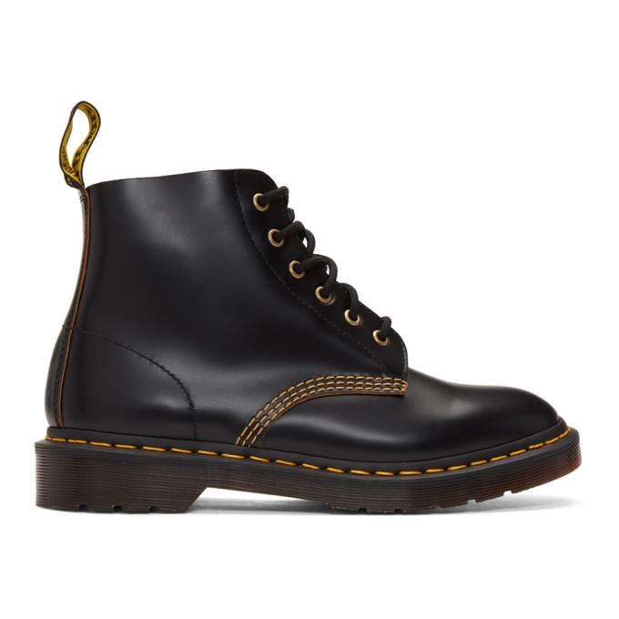 Image of Dr. Martens Black 101 Vintage Smooth Boots