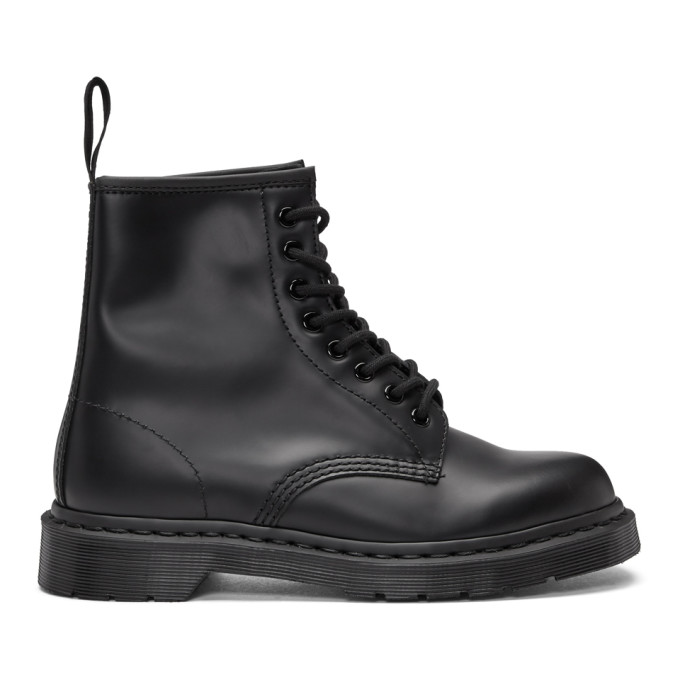 Image of Dr. Martens Black 1460 Mono Lace-Up Boots