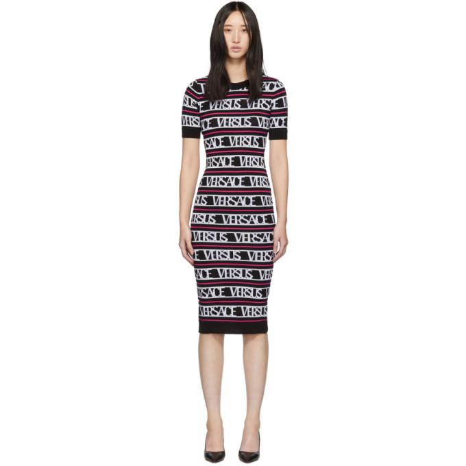 Versus Black & Pink Knit 'Versus Versace' Dress