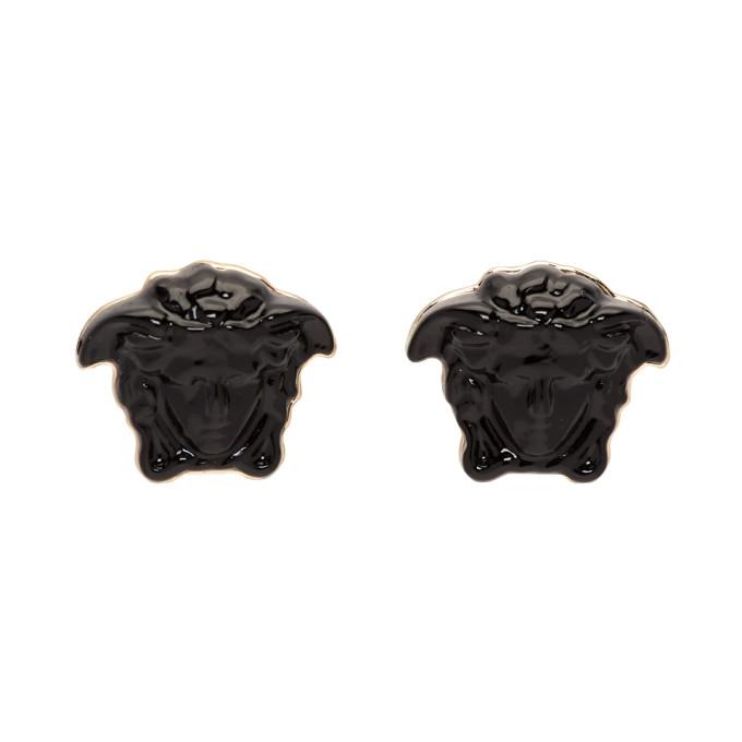 5d0badcea Versace Black Mini Medusa Earrings