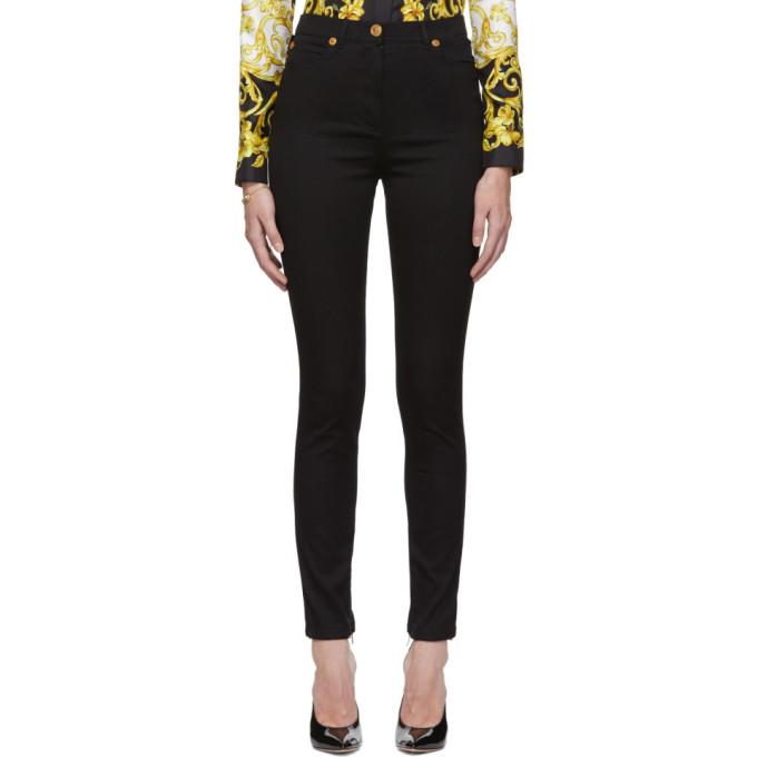 Versace Black Medusa Stud Skinny Jeans