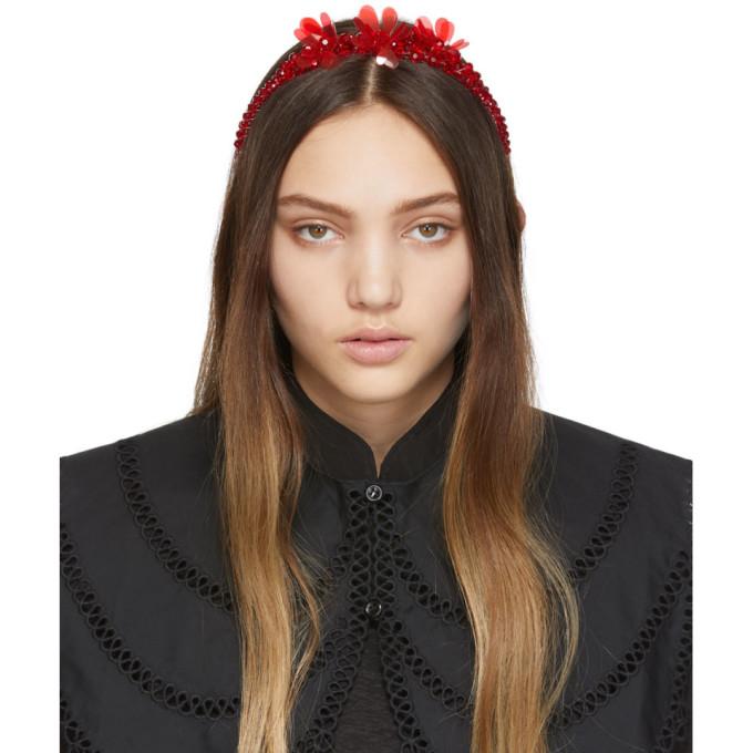 Simone Rocha Serre-tete rouge Crystal Pearl