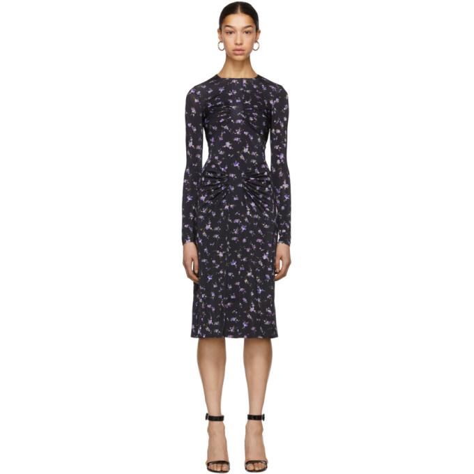 Image of Altuzarra Black & Purple Maria Teresa Dress