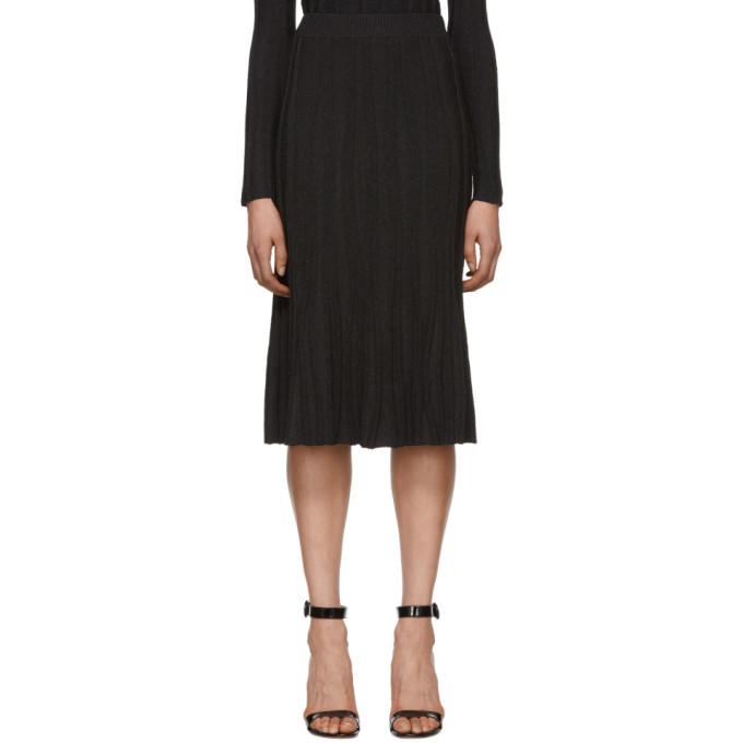 Image of Altuzarra Black & Brown Knit Gabbiano Skirt