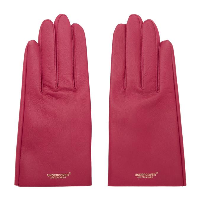 Undercover Pink Lambskin Gloves