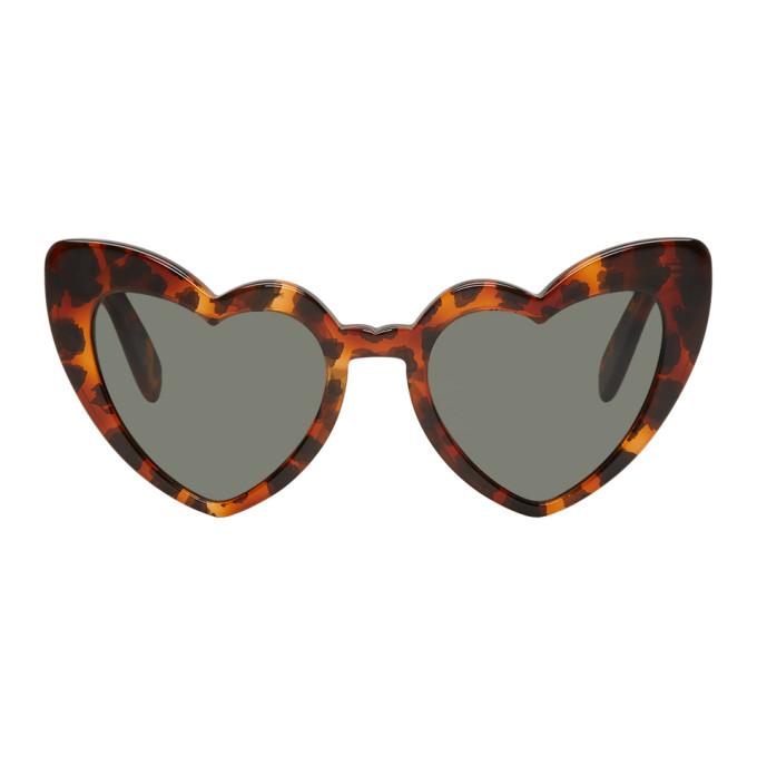 Saint Laurent Tortoiseshell SL 181 Loulou Sunglasses