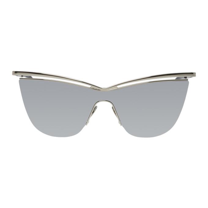 Saint Laurent Silver Cat-Eye SL 249 Sunglasses