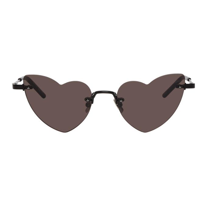 Saint Laurent Black New Wave Loulou Sunglasses