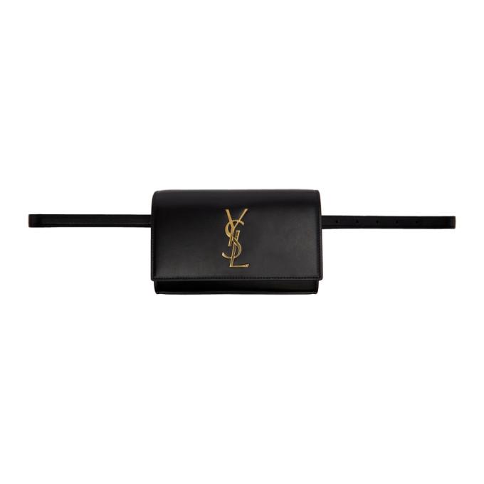 Saint Laurent ブラック ケイト ベルト バッグ