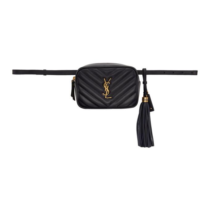 Saint Laurent Navy Lou Belt Bag