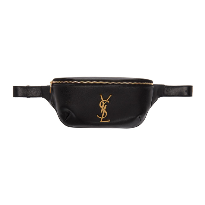 SAINT LAURENT | Saint Laurent Black Classic Monogramme Belt Bag | Goxip