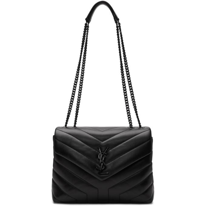 c89ceab7fcd852 Saint Laurent Black Small Lou Lou Monogramme Chain Bag