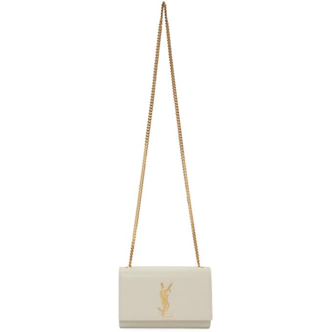 Saint Laurent オフホワイト スモール ケイト モノグラム バッグ