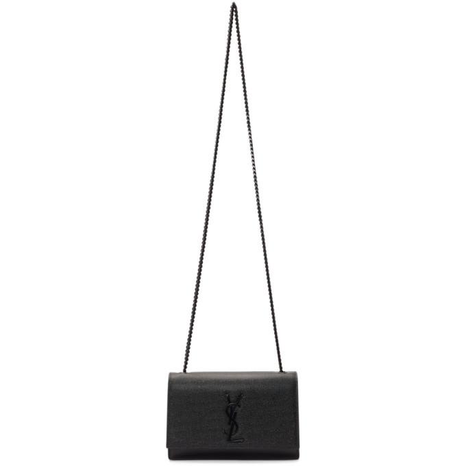 Saint Laurent ブラック スモール ケイト チェーン バッグ