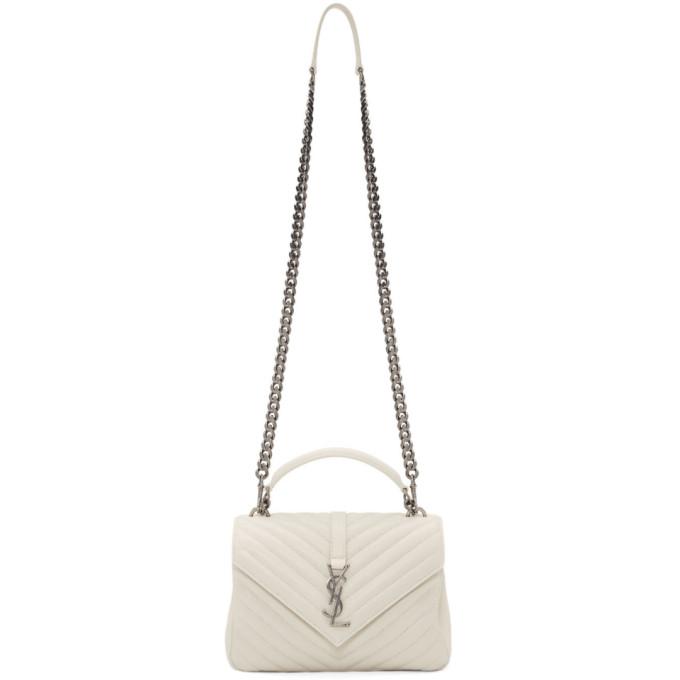 ada649e106a8 Saint Laurent Medium CollèGe Shoulder Bag In Neutrals