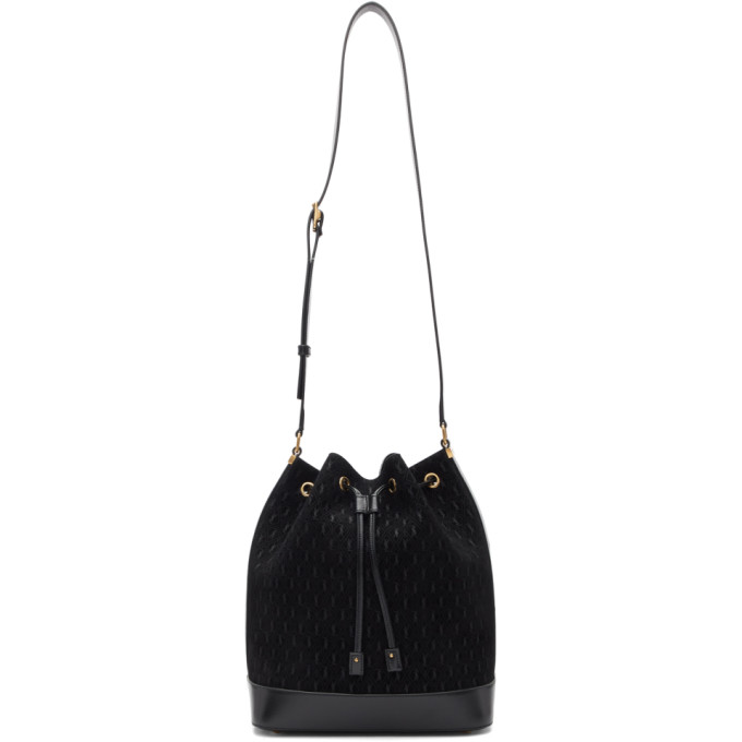 Saint Laurent Black All-Over Monogramme Philadelphia Bag
