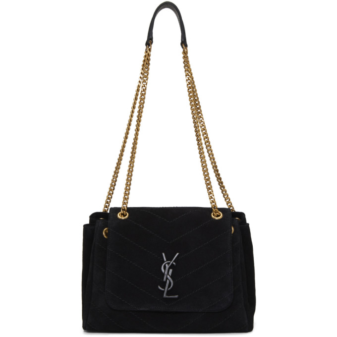 695ce4397053 Saint Laurent Black Small Suede Nolita Bag