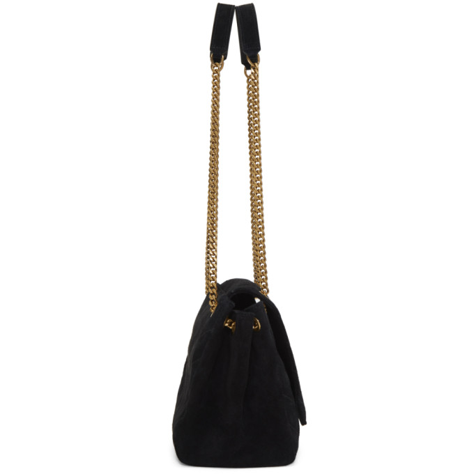 a22cc11ab3bc Saint Laurent Black Small Suede Nolita Bag In 1000 Black