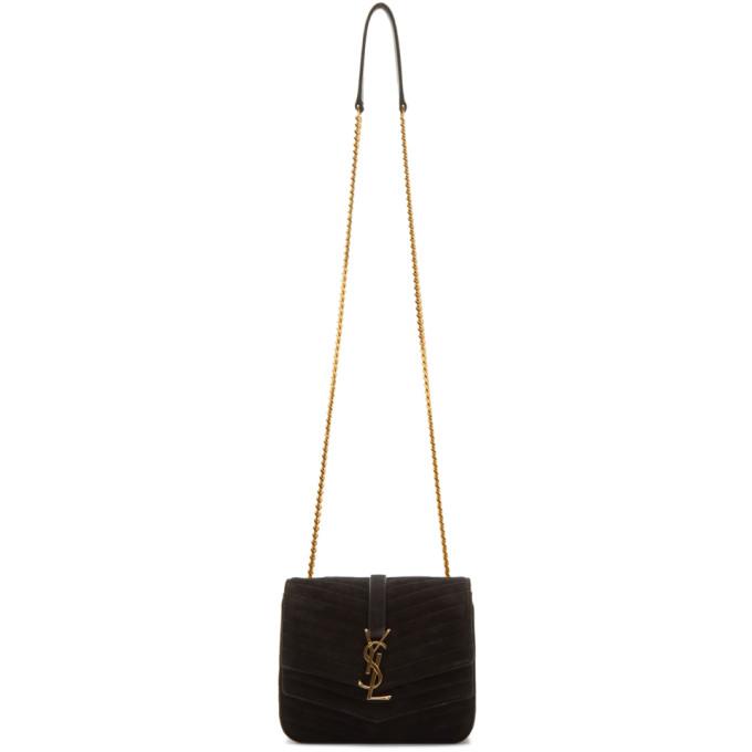 Saint Laurent Black Small Sulpice Double Flap Bag