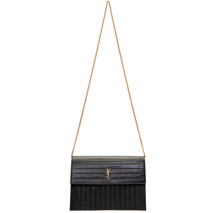 Saint Laurent Black Victoire Shoulder Bag