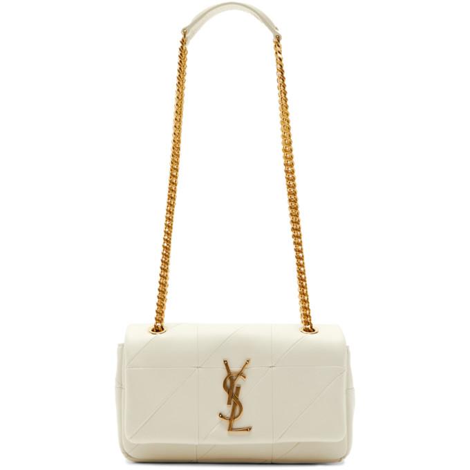 Saint Laurent White Small Jamie Bag