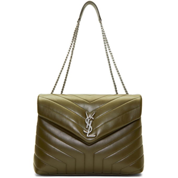 Saint Laurent Green Medium Loulou Chain Bag