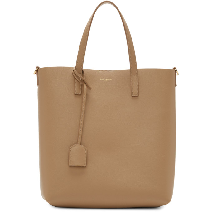 Saint Laurent Taupe Toy North/South Shopping Tote